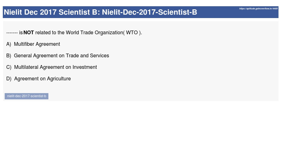 Nielit Dec 2017 Scientist B Aptitude Overflow